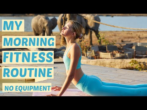 Morning Fitness Routine Pilates Inspired | Stretch, & My Light Ab & Butt Workout | Sanne Vloet
