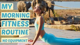 Morning Fitness Routine - Pilates Inspired | Stretch, & My Light Ab & Butt Workout | Sanne Vloet