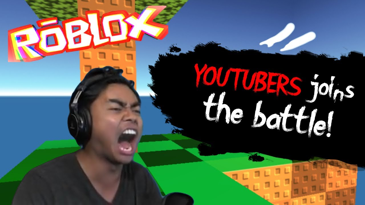 Youtubers joins the battle! | Roblox Skywars