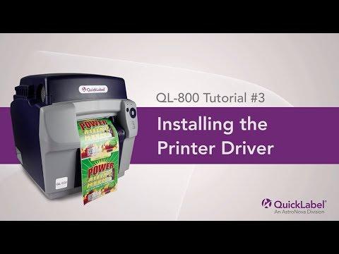 Installing the QL-800 Printer Driver