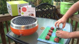 The Homping Grill - Review / Unboxing / Demo (Tailgating, Camping)