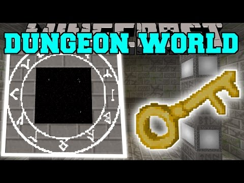 Minecraft: DUNGEON DIMENSION MOD (CAN YOU SURVIVE & GAIN EPIC TREASURES?) Mod Showcase