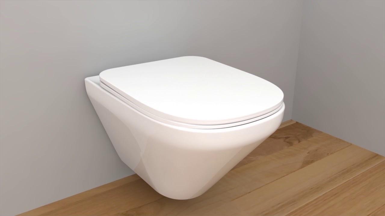 Modern life Wall hung Toilet - YouTube