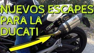 Nuevos escapes para la Ducati Monster de Pat! (Mivv Suono inside) - [Motovlog a duo]