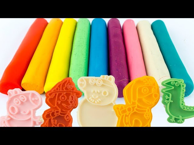 Learn Colors Play Doh Modelling Clay Fruit and Vegetable Ice Cream Molds Fun for Kids Surprise Toys