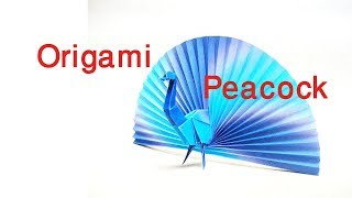 Origami peacock।how to make origami peacock।Origami Peacock tutorial।Origami animal for kids।।