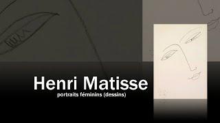 Henri Matisse : portraits féminins (dessins)