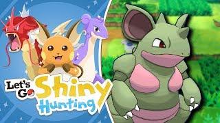 NIDOQUEEN SHINY HUNTING!   Pokemon Let's Go Pikachu Shiny Living Dex!
