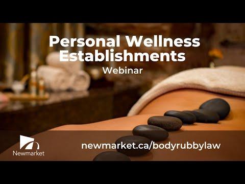 Personal Wellness Establishments Webinar