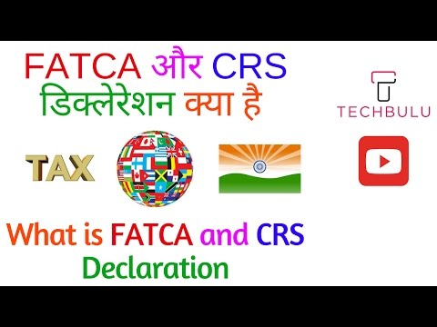 What is FATCA-Foreign Account Tax Compliance Act-CRS-Common Reporting Standard-Explained-In Hindi