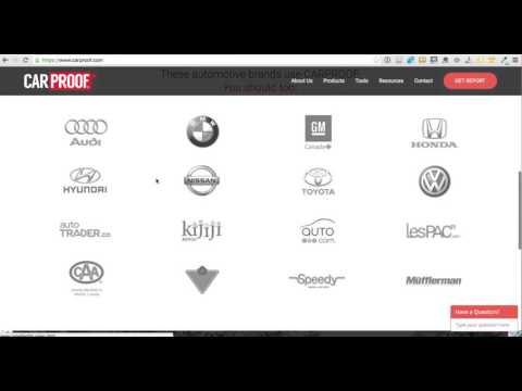 Vehicle History Report Sites Carproof Com The Canadian Alternative