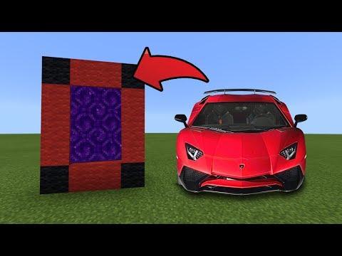 How To Make A Portal To The Lamborghini Dimension In MCPE (Minecraft PE)
