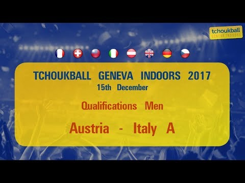 Tchoukball Geneva Indoors 2017 / Nations Cup Men : Austria - Italy A