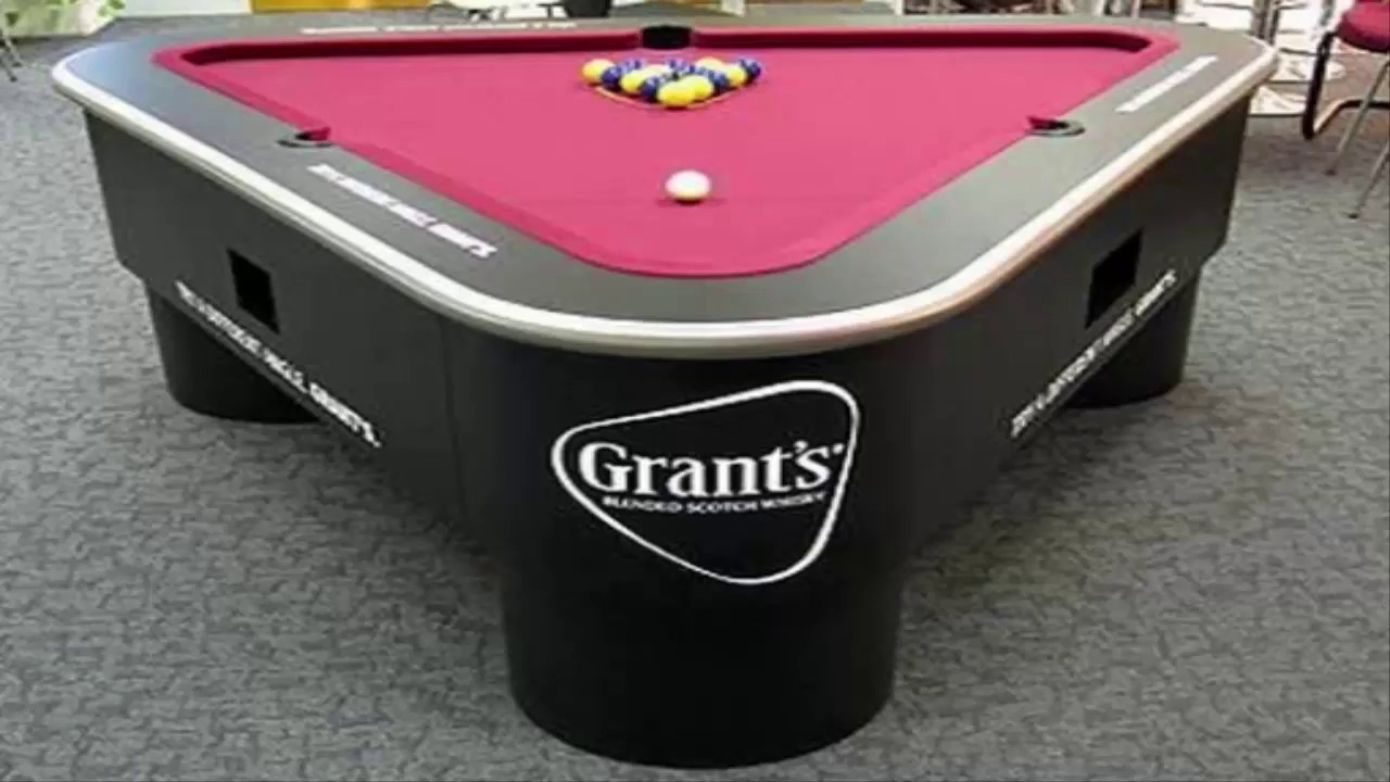 Top 10 new most amazing shaped pool tables youtube for 10 pool table