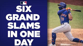 SIX grand slams in ONE day! MLB teams combine for second most grand slams in one day in MLB history!