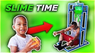 Splash Dunk Tank Challenge Family Fun Activities With DJ's Clubhouse!!