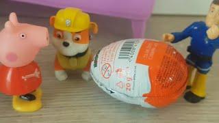 Bajka Świnka Peppa po polsku 2019 - Jajka niespodzianki z Strażak Sam Psi Patrol i Barbie