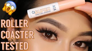 Roller Coaster Tested! ShopMissA Super Strip Lash Adhesive Review