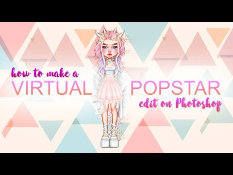How to make a Virtual Popstar edit on Photoshop (with surprise)