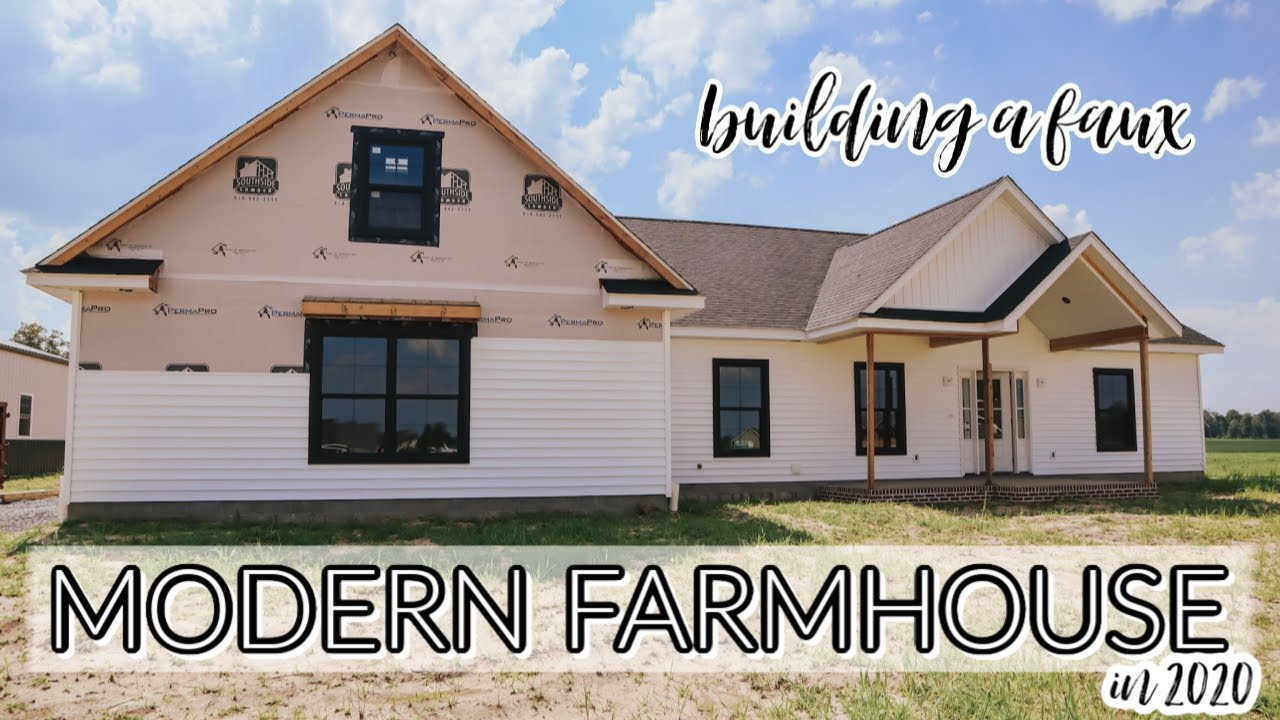 BUILDING A MODERN FARMHOUSE HOUSE IN 2020   EMPTY HOME TOUR- UNFINISHED EDITION