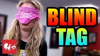 Blindfolded Newspaper Tag | Hard Mode