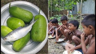 Winter Melon & Hilsa/Ilish Cooking By 4-7 Years Old Children / Kids Picnic / Most Tasty Mix Mashed