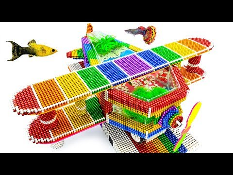 DIY - Build Amazing Fish Tank Double Wing Plane With Magnetic Balls (Satisfying) - Magnet Balls