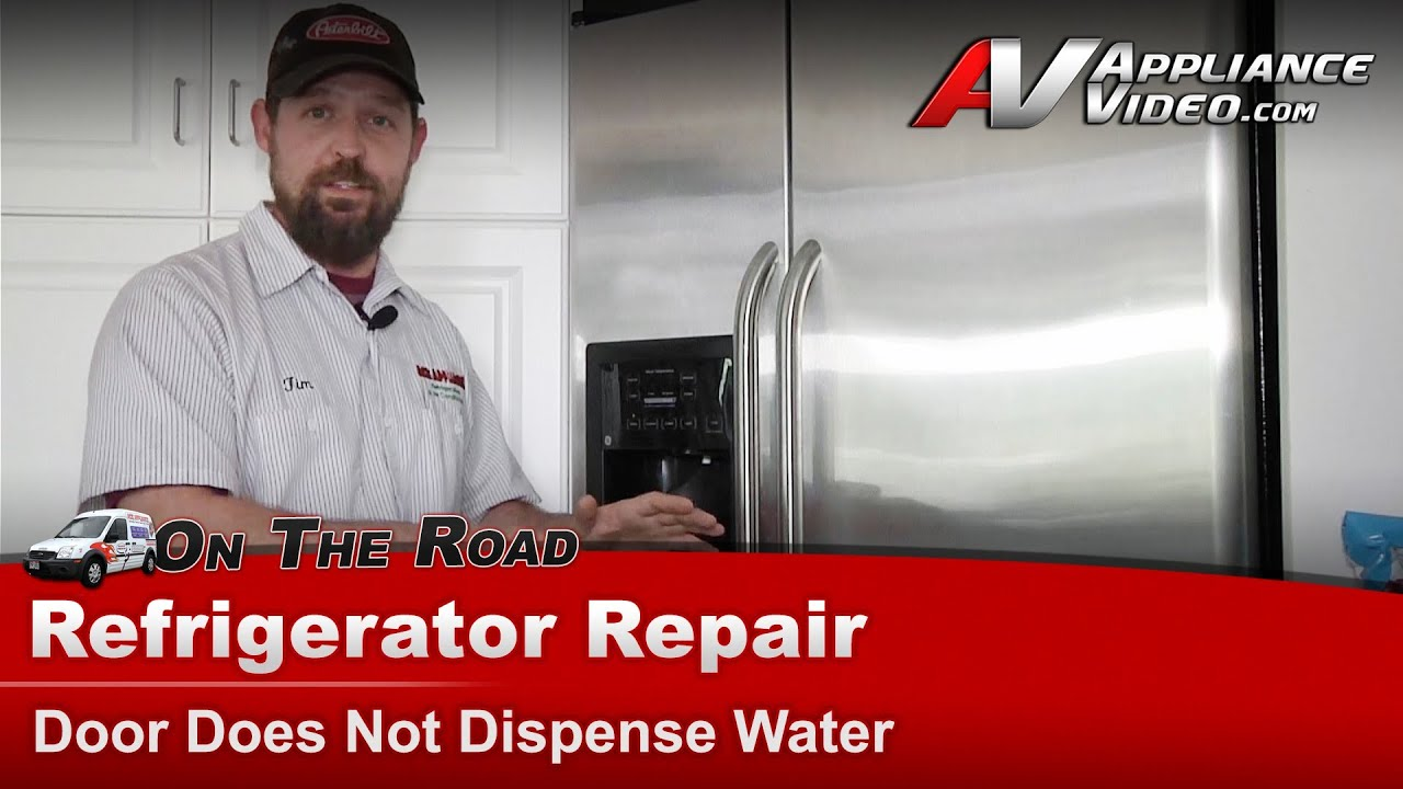 hight resolution of refrigerator repair not dispensing water through door ge hotpoint rca