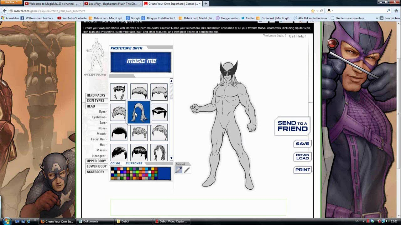 create your own superhero youtube