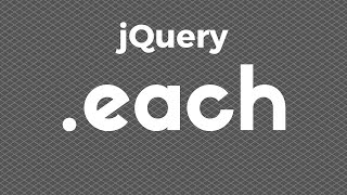 Using jQuery's .each Function