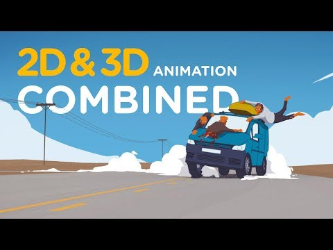 2D & 3D Animation Combined