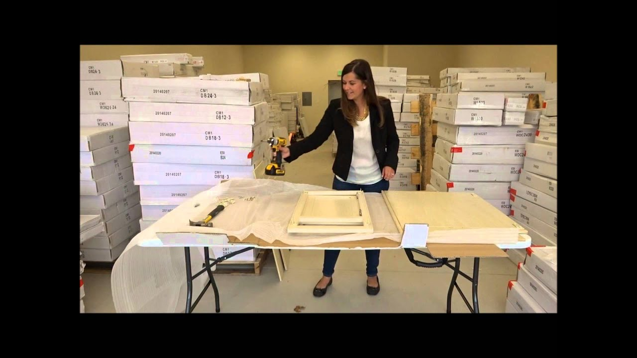 RTA Cabinet Assembly Video by Cabinet Mania with Monica - YouTube