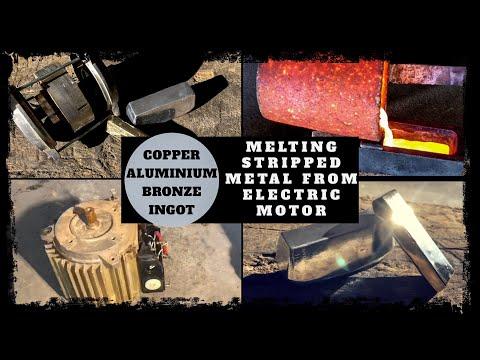 Trash To Treasure Melting Metal From Electric Motor - Making Copper Aluminium Bronze Ingots