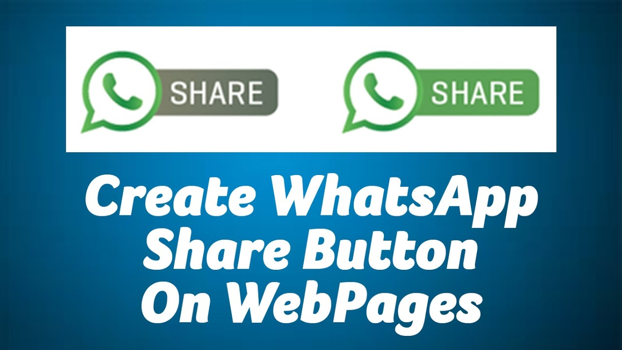 Share Websites Create Whatsapp Share Button On Websites