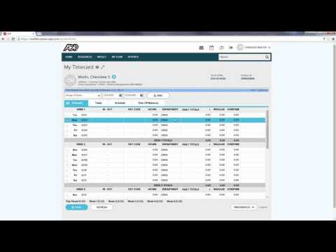 ADP Timecard Training for Hourly Employees 1 11 16, 2 11 PM