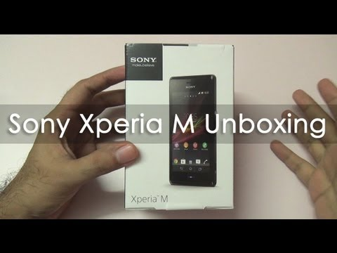 Sony Xperia M Unboxing Indian Retail Unit