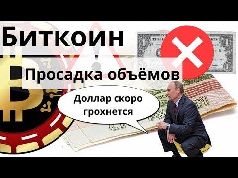 Биткоин опять просадка объёмов. ЦБ России - ошибки трейдера новичка