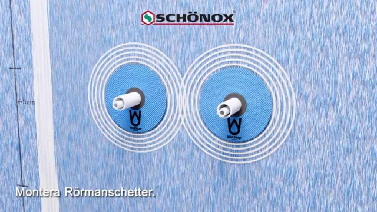 Inredning tätskikt våtrum : SCHÖNOX Folie 2 = SCHÖNOX WSA lim, Foil Seal och SCHÖNOX WSF folie ...