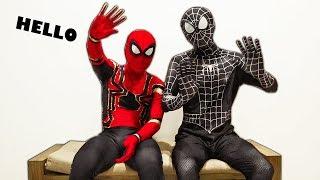 NGƯỜI NHỆN đến thăm nhà VENOM | SPIDER-MAN and VENOM in real life