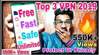 Gambar cover Top 3 Unlimited VPN 🔥| Free, Fast & Safe Protect Your Privacy 🔏