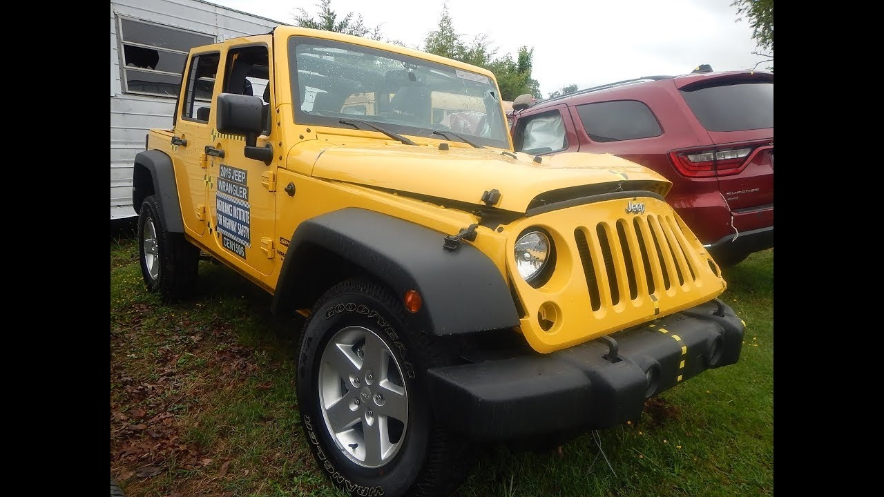 Parting Out 2015 Jeep Wrangler Unlimited 4 Door M U0026 M Salvage  1 800 533 4099 Ruckersville, VA   YouTube
