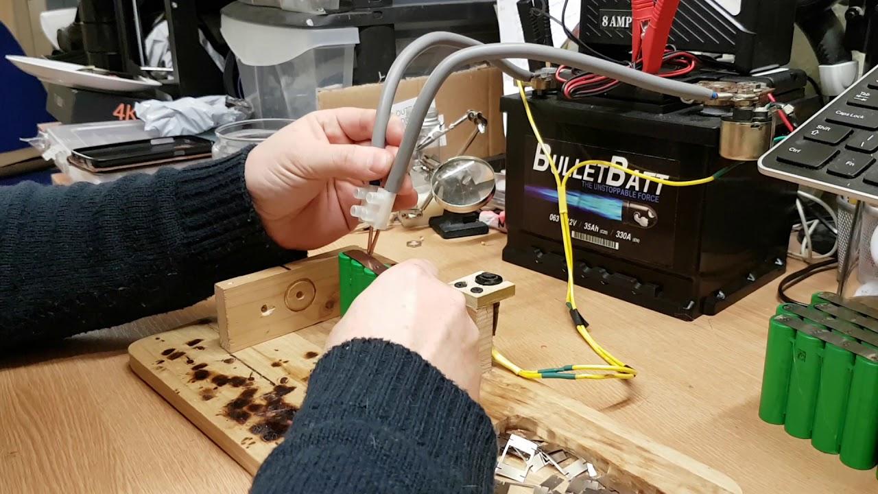 DIY Battery Spot Welder - Welding up some 18650 cells