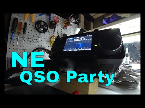 ICOM IC-7300 Ham Radio Contest Contacts | NE QSO Party | CW & SSB