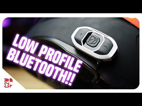 LOW PROFILE Helmet Bluetooth Option!!   Icon RAU Communicator Review