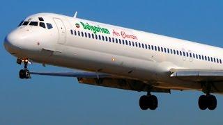 Bulgarian MD-82 Landings & Loud Smoky Takeoffs @ Corfu - Jetblast! MD80/DC9 Plane Spotting