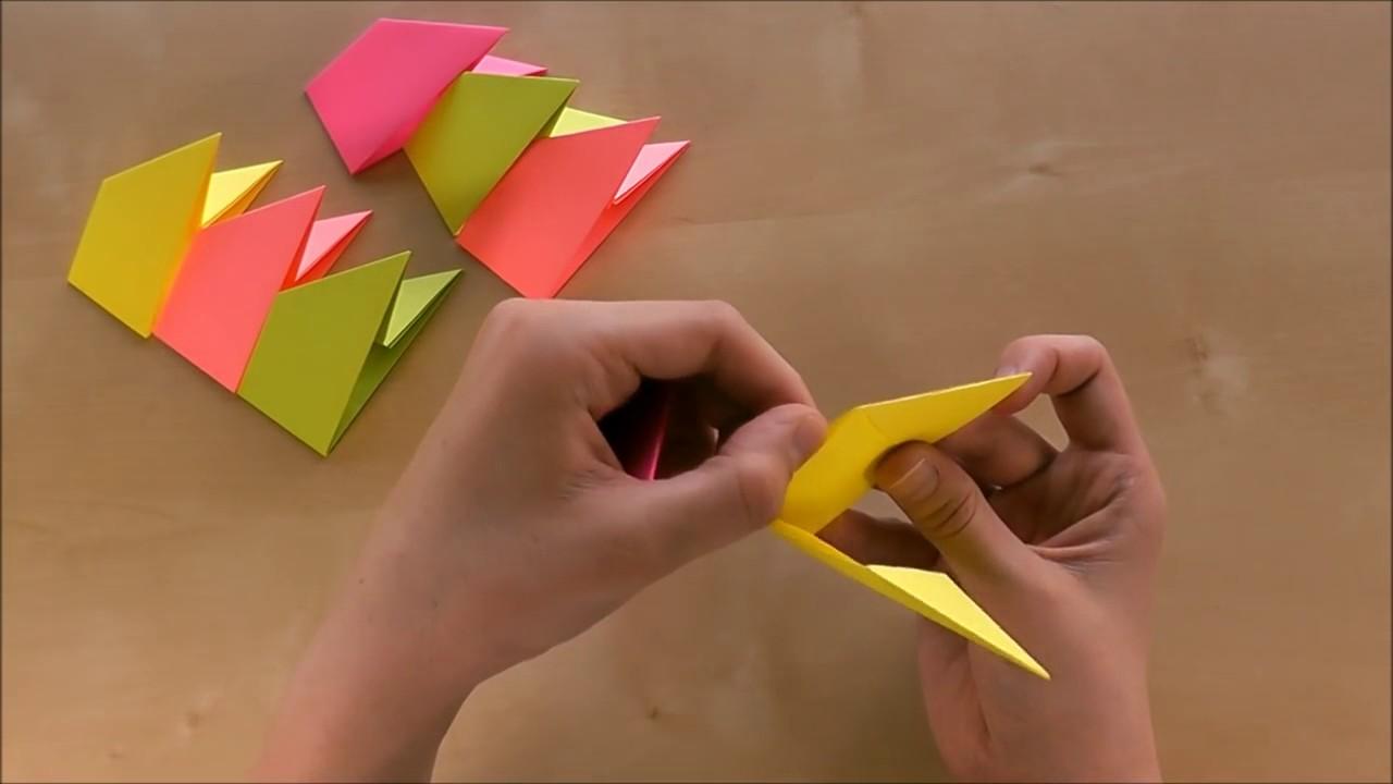 Origami Stern Basteln Mit Papier Modulen Sterne Basteln