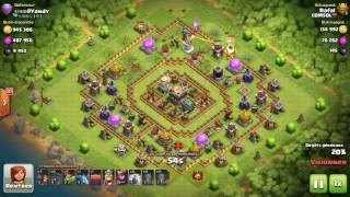 Clash Of Clans - 8# Road to Legend TH9 vs TH11 Baby Dragon Raid