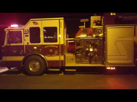 Structure Fire response- Rotterdam, NY (11/18/16) Lots of Q and Air horns!