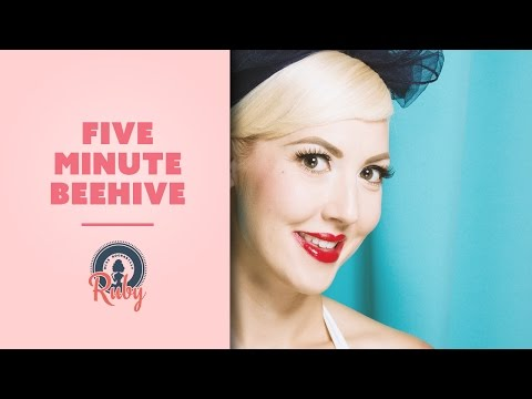 Five Minute Beehive Hair Tutorial By Miss Rockabilly Ruby