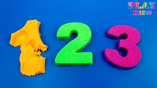 DIY how to make Kinetic Sand Number | Make numbers 1-10 with Kinetic Sand |Learn to count Magic Sand